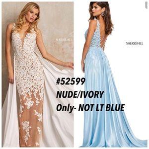 Sherri Hill NUDE / IVORY long formal